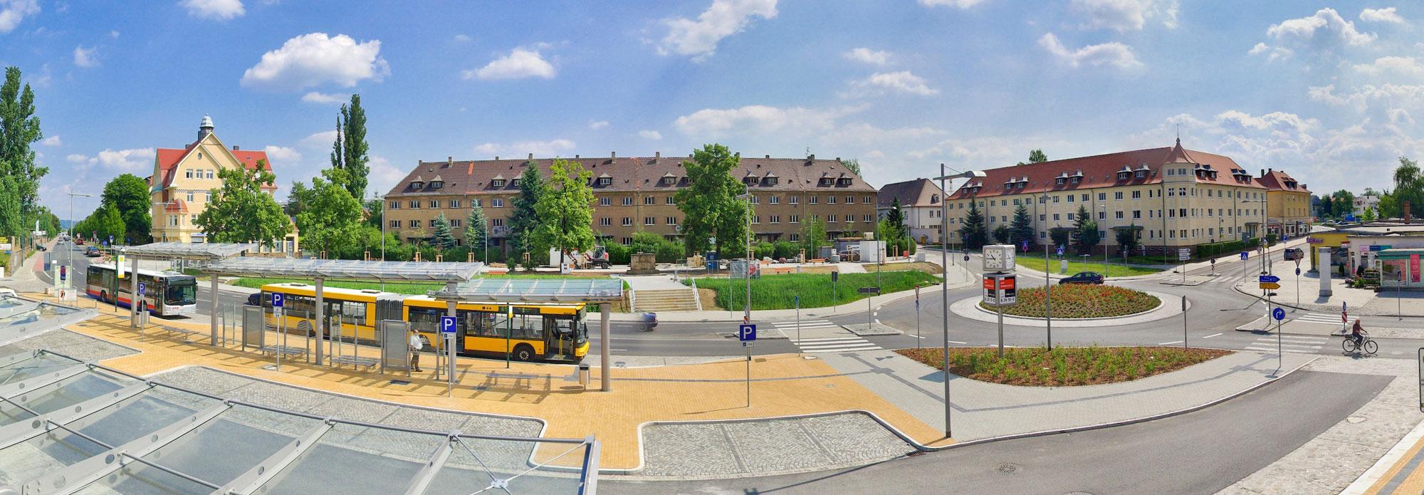 Entwurf von Verkehrsanlagen – Übersicht Referenzen – Bahnhofsvorplatz Heidenau