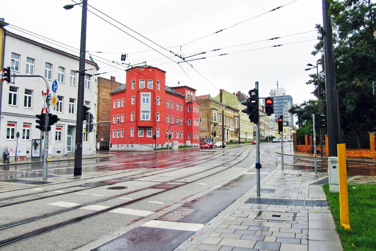 Lichtsignalanlage Curieplatz Halle