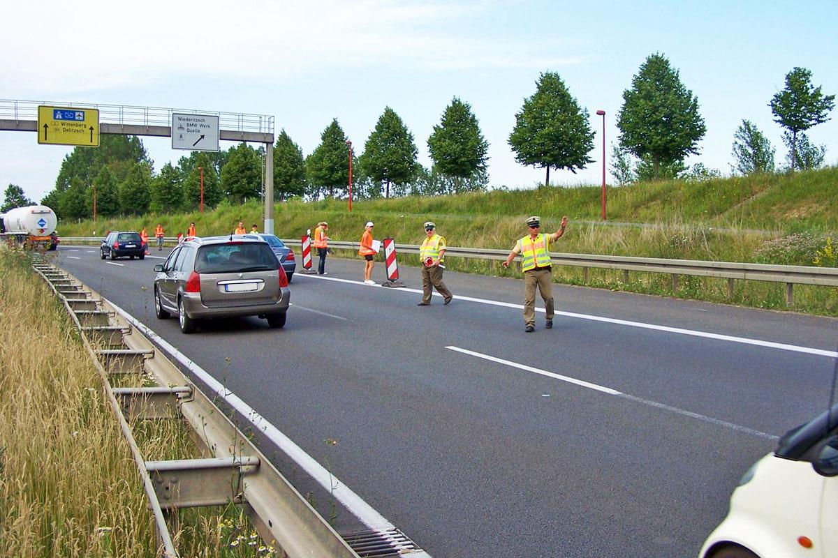 Verkehrsbefragung auf der Bundesstraße